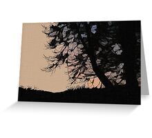 Sunrise in Orange Ink Greeting Card