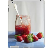 Strawberry in a glass jar iPad Case/Skin
