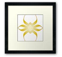Beetle in Gold Framed Print