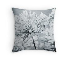 summer garden ..... agapantha blue Throw Pillow