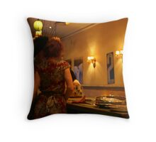 Behind The Bar Throw Pillow