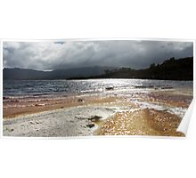 Late Afternoon, Ted's Beach - Lake Pedder, Tasmania Poster