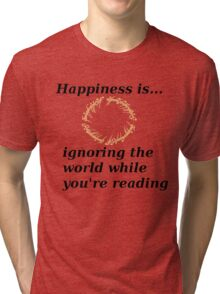 Happiness is... Lord Of The Rings Edition Tri-blend T-Shirt