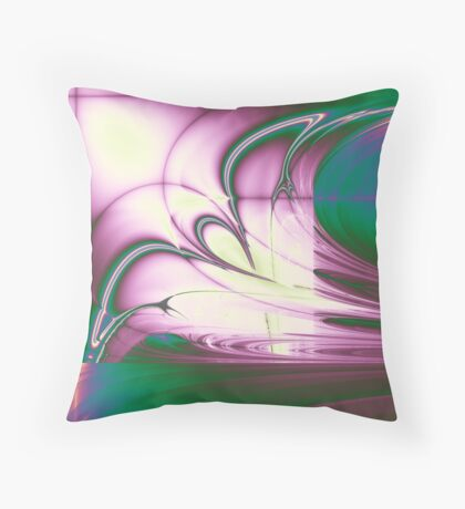 Rainbow Ribbon Throw Pillow