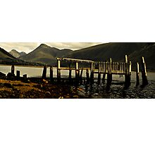 old woodern pier Photographic Print