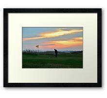 Eighteenth Green at Sunset Framed Print