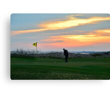 Eighteenth Green at Sunset Canvas Print