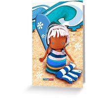 CHUNKIE Surfer Greeting Card
