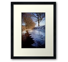 Freezing Over Framed Print