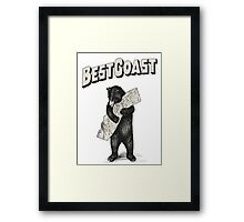 Best Coast HQ Framed Print