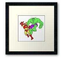 Iron Man & The Hulk Framed Print