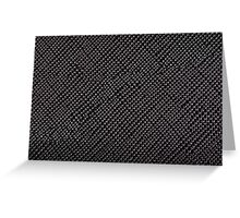 Black textured plastic structure abstract Greeting Card