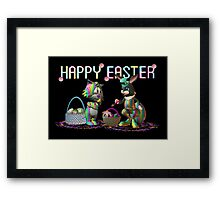 Easter Rabbit going crazy with a paint brush Framed Print
