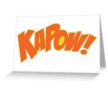 KAPOW Greeting Card