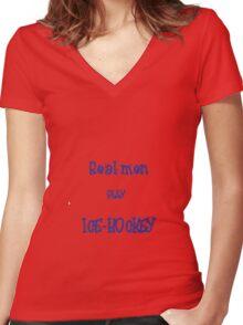 real men Women's Fitted V-Neck T-Shirt