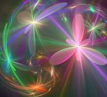 Ethereal Flowers Dancing by delasel