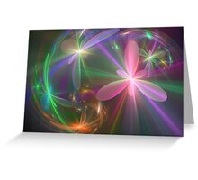 Ethereal Flowers Dancing Greeting Card