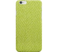 Bright green knitted fabric cloth texture iPhone Case/Skin