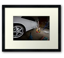 Boys Toys Garage Framed Print