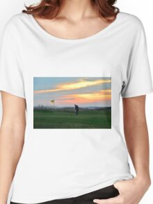 Eighteenth Green at Sunset Women's Relaxed Fit T-Shirt