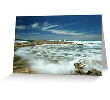 Wave flow Greeting Card