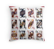 Pacific Flush - Red Throw Pillow
