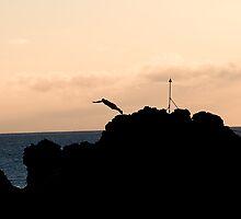Maui Diver (Black Rock) by alphotos
