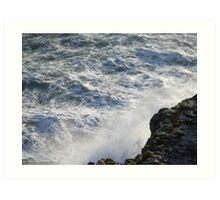 Raging Sea Calm Ledge Art Print