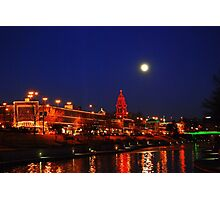 Full Moon over the Country Club Plaza in Kansas City. Photographic Print