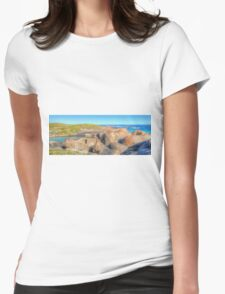 Elephant Rocks Panorama - HDR - Denmark - WA Womens Fitted T-Shirt