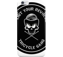 Knit Your Revolt Tricycle Gang iPhone Case/Skin