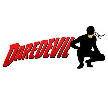 Daredevil and his logo... by ThePeacockMan