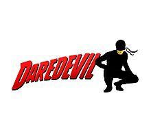 Daredevil and his logo... Photographic Print