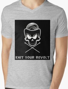 Knit Your Revolt 1 Mens V-Neck T-Shirt