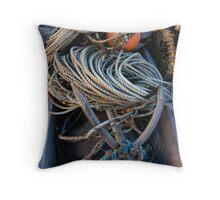 Fishing boat equipment Throw Pillow