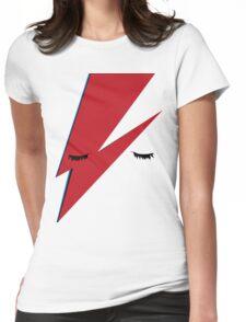 Minimalist Aladdin Sane album cover Womens Fitted T-Shirt