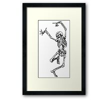 Dancer skeleton Framed Print