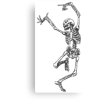 Dancer skeleton Canvas Print