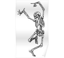 Dancer skeleton Poster