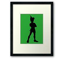 Peter Pan Silhouette Framed Print