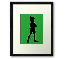 Peter Pan Silhouette Framed Print