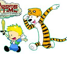 AT with Calvin and Hobbes by fandomthings