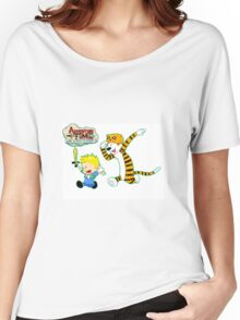 AT with Calvin and Hobbes Women's Relaxed Fit T-Shirt