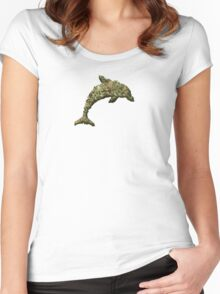 Drug Dolphin Women's Fitted Scoop T-Shirt
