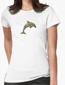 Drug Dolphin Womens Fitted T-Shirt