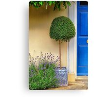 By the blue door Canvas Print