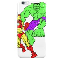 Iron Man & The Hulk (Distressed) iPhone Case/Skin