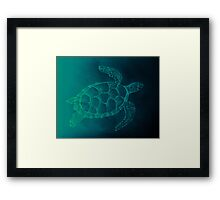 AZTECSURF TURTLE POSTER Framed Print