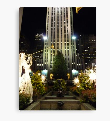 Rockefeller Plaza Canvas Print