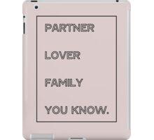 Gallavich Mickey Milkovich partner lover family you know. iPad Case/Skin